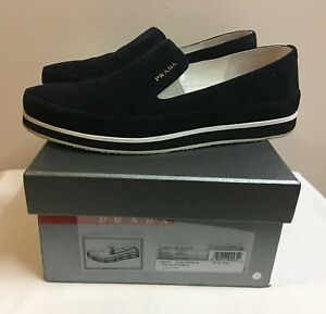 """*Bought from CHADSTONE MELBOURNE* """"Prada"""" Navy Suede Loafer/38EU (size run big)"""