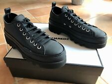 Dsquared 2,Sneaker,Kalbs Leder Schuhe,Gr.44 Herren,matt schwarz,fast Neu