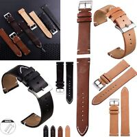 18 20 22mm Quick Release Leather Watch Band Wrist Strap For Fossil Smart Watches