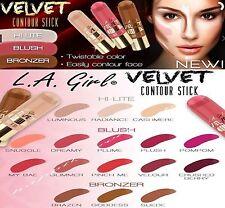3 PCs L.A. Girl Velvet Contour Sticks - Highlight, Blush & Bronzer *PICK COLORS!