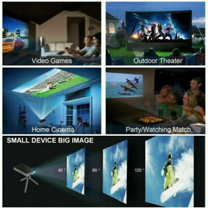 """Vizion P8 Mini Projector 4K up to 300""""Screen Android Wifi Home Theater HD 1080P"""