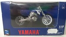 NEW RAY 1:18 DIE CAST MOTO YAMAHA YZ450F 2008 BLU ART 67223