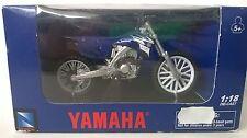 NEW RAY 1:18 DIE CAST MOTO YAMAHA YZ450F 2008 BLU ART 67223