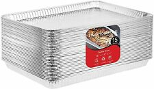 Stock Your Home Disposable Aluminum Cookie Sheet Baking Pans- 15 Count