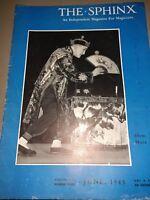 Sphinx Magazine Magicians SILENT MORA ISSUE 1943 Vol.XLII No.4