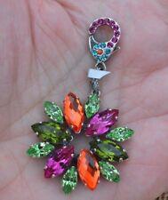 Mariana Flower Charm / Pendant Multi Color Swarovski Crystals