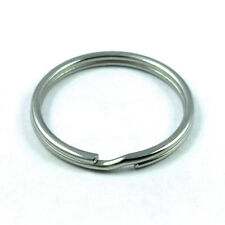 "10 pcs 25mm Stainless Steel Split Key Chain Rings 1"" inch"