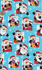 "VINTAGE! CHRISTMAS SANTA ON TURQUOISE - BTFQ - 18""X22"""