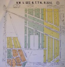 New listing 1929 Antique Milwaukee Wi Wisconsin Plat Survey on Linen Original North Side