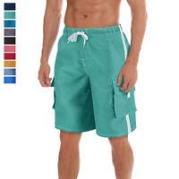 Men's Casual Cargo Watershorts Fast Dry Board Shorts Swim Suit Beach Swim Trunks