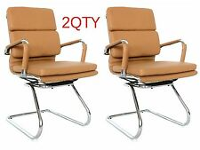 Eames Replica visitors chair - CAMEL Vegan leather - Pack of 2 Chairs