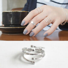 Stylischer Damen Ring Sternschnuppe echt Sterlingsilber 925 rhodiniert offen