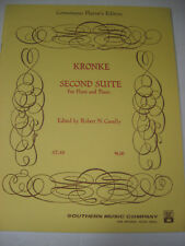 Kronke Second Suite For Flute and Piano Edited by Robert N Cavally Sheet Music
