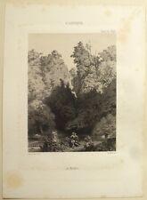 """Lithographie, François-Louis FRANCAIS, """" Les nymphes"""""""""""
