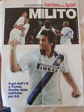 INTERNAZIONALE F.C. POSTER  CALCIO DIEGO MILITO JUVENTUS  - INTER 0-2