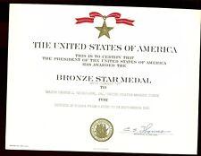 br- USMC BRONZE STAR DOCUMENT GROUP,  WW2 & Korea, (2/7 Marines) Pvt to Lt Col.