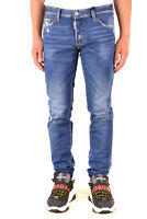 Jeans DSQUARED2 da uomo denim scuro in cotone