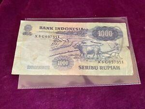 Indonesian bank note   1000 rupiah 1975  rare
