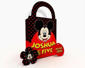 Personalised Children Party Bag Gift Favour Box Treat Bag