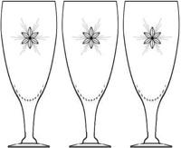"STAR 6 pt Susquehanna Sherry glass stemware Starburst 5.75"" Set of 3"