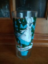 Brockway 8th day of Christmas glass with Brockway sticker on the bottom.