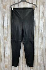 Zara Woman Black Faux Leather Legging Skinny Pants Zipper M Medium Classic