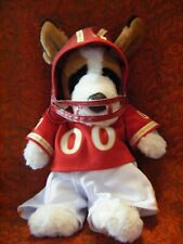 "ANIMAL LAND AMERICAN FOOTBALL DOG 17"" TALL APPROX  SOFT TOY"