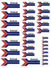 "SHEET OF AMTRAK STICKERS    (8.5"" X 11"") HO scale  !"