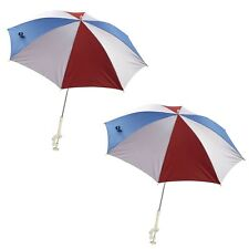 Lot Of 2 Beach Clip On Chair Umbrella Sun Shade Uv Clamping Clamp Parasol Pic Ni