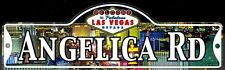 ANGELICA RD - Welcome To Fabulous Las Vegas Street Sign (Laminated Plastic)
