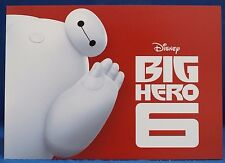 "Big Hero 6 Lithograph Set of 4 in Folder Baymax Disney Store Authentic 10"" x 14"""