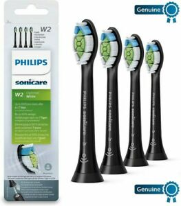4x Genuine Philips Sonicare W2 DiamondClean HX6064/65 Toothbrush Heads-NEW Black