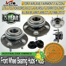 2 for Ford Falcon AU/BA/BF Territory 2WD ABS Front Wheel Bearing Hub Hubs Nuts