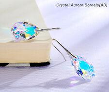 FREE GIFT BOX! Trendy pear shaped crystal  earrings made w/ Swarovski Elements