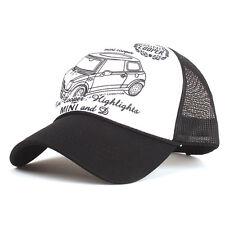 Mini Car Printed Mesh Trucker Cap Baseball Hat Snapback