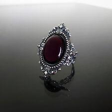 Victorian Gothic anello di ametista viola filigrana Argento Steampunk Matrimonio Costiera