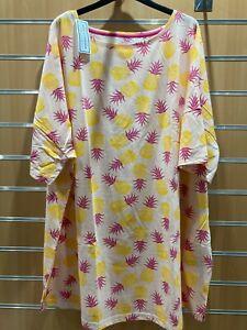 Pretty Secrets pineapple print Nightie uk size 32-34 bnip