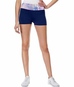 Jessica Simpson Womens The Warm Up Athletic Compression Shorts, Blue, Large