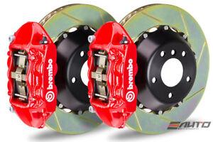 Brembo Front GT BBK Brake 4pot Red 345x28 Slot Disc Rotor Veloster Turbo 13-14
