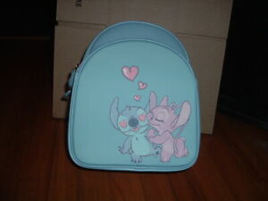 LOUNGEFLY DISNEY STITCH & ANGEL HEART MINI BACKPACK~ WITH TAGS~ BRAND NEW~
