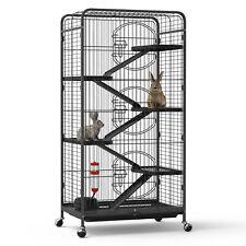 "Yintatech 52"" 6-Level Metal Animal Pet Cage On Wheels Hamster Rabbit Rat Cat Dog"