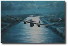 En-Route by Anthony Saunders - Lancaster - 2 Dambuster Veterans