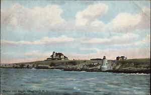 NEWPORT RI Castle Hill Lighthouse c1910 Postcard