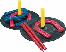 Rubber Horseshoe Set, Indoor/Outdoor Family Fun, Lightweight, Easy Set-Up