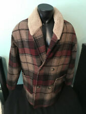 Vtg The J Peterman Company Plaid Wool Coat Jacket Mens size Medium Made in USA