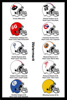 1966 COFL Continental Football League Helmet Logo's Color 8 X 12 Photo Picture