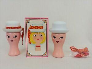 2x Vintage Avon 1967 Miss Lollipop Cologne Pink Girl Fragrance Mist Spray 3oz