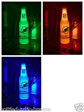 NFL Miami Dolphins Football 12 oz Beer Bottle Light LED Bar Man Cave Tannehill