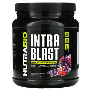 NutraBio Labs, Intra Blast, Intra Workout Amino Fuel, Grape Berry Crush, 1.6 lb