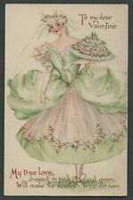 c.1910 Unsigned IRENE MARCELLUS Nister 1507 Valentine Postcard PRETTY BRIDE